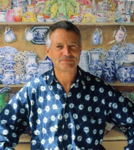 An image of Kaffe Fassett from his autobiography, Dreaming in Color.