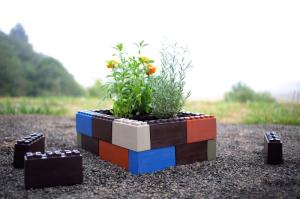 TogetherFarm Blocks snap together easily and are made of 100 percent recycled plastic. Photo courtesy of TogetherFarm.