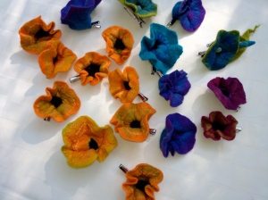 Flower clips in various colors by GardenFelt. Photo courtesy of Amy Green Thrasher.
