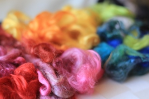 """Roving"" or unfelted wool, is the raw material Thrasher uses to make her GardenFelt creations. Photo: Bim Mamber"