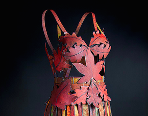 'Millie', by Arabella Tattershall, sports a fall-colored, leafy bodice. Image courtesy of the artist.